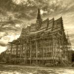 Templo budista cerca de Prachuap Khiri Khan (Tailandia)