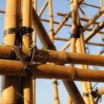 Andamio de bambú